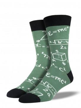 math, socks, nerd, novelty socks