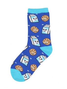 milk and cookies, novelty socks, kids socks