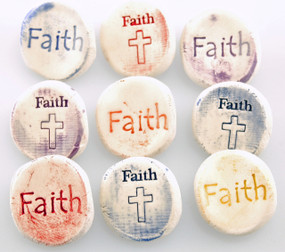 worry stone, pocket token, faith