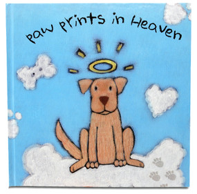 paw prints in heaven story book pet grief loss dog cat