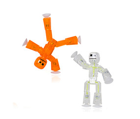 robot, stikbot, stick bot, toys, action figures