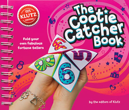 book, cootie catcher, klutz, answers, questions, fun, game