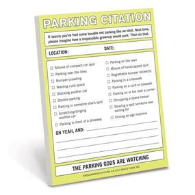 parking citation, funny, sticky notes, prank