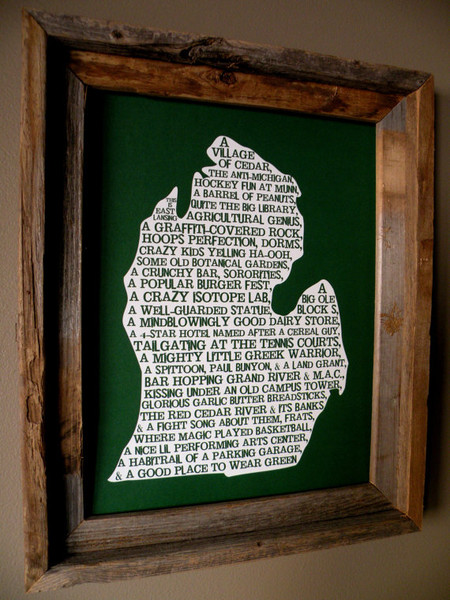 michigan, east lansing, nutshell, print, words, description, towns, michigan pride