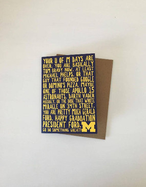 card, graduation, university of michigan