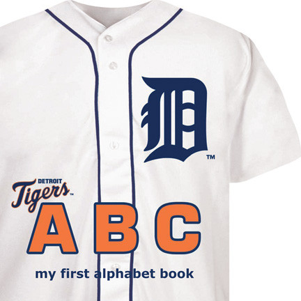 detroit tigers, abcs, baby, book, baby shower gift, best baby shower gifts, sports fan