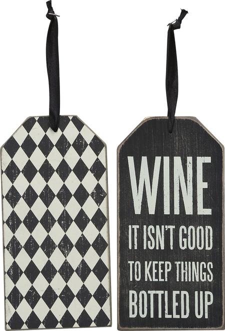 wine, wine tag, sassy, funny, gift