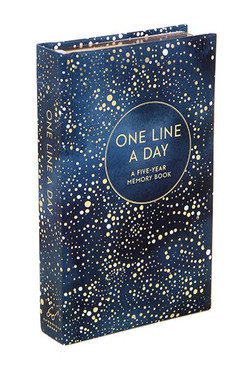 one line a day journal navy dot