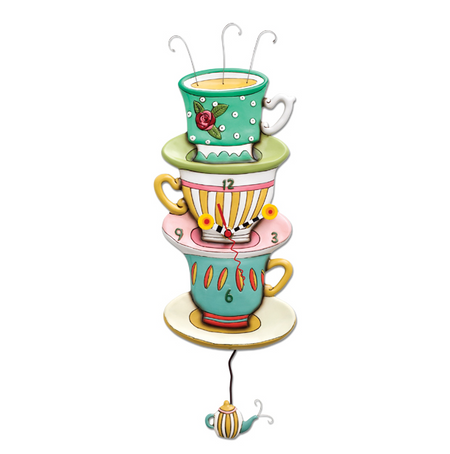 clock, whimsical, allen designs, cute, tea