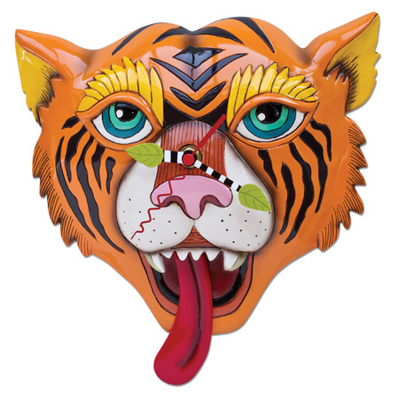 clock, whimsical, allen designs, cute, tiger