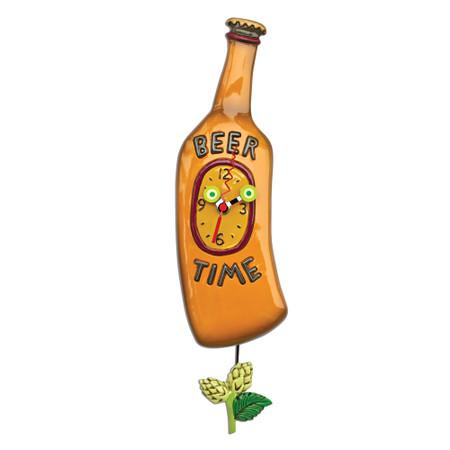 clock, whimsical, allen designs, cute, beer
