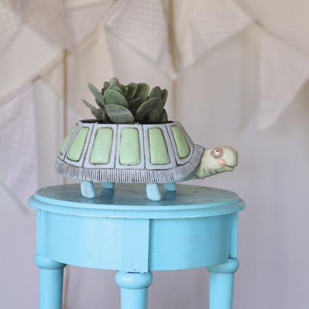 planter, whimsical, plants, garden, cute pots
