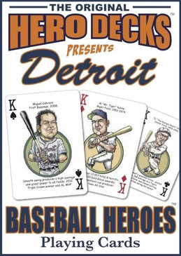 sports, playing cards, cards, hero deck, baseball, detroit tigers, michigan sports