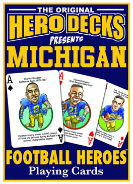 sports, playing cards, cards, hero deck, michigan, u of m, football