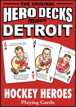 sports, playing cards, cards, hero deck, hockey, detroit red wings, michigan sports