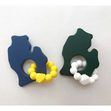 teether, michigan, university of michigan, michigan state, baby shower