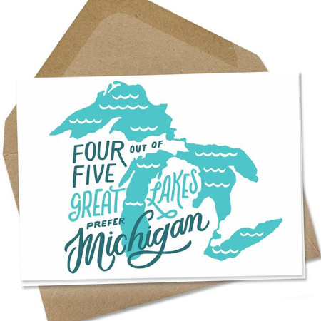 michigan, card, gift