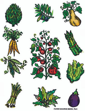 flour sack towel, vegetables, charming