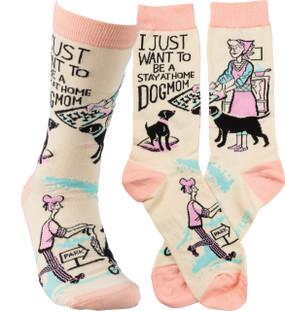 socks dog mom
