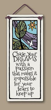 home decor, decoration, tile, wall tile, hanging tile, home, inspirational, housewarming gift, happiness, follow your dreams
