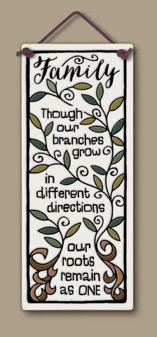 home decor, decoration, tile, wall tile, hanging tile, home, inspirational, housewarming gift, happiness, family, families