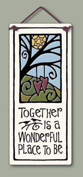 home decor, decoration, tile, wall tile, hanging tile, home, inspirational, housewarming gift, happiness, together, gift for anniversary, gift for valentine's day