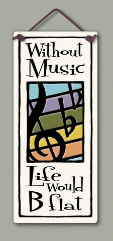 home decor, decoration, tile, wall tile, hanging tile, home, inspirational, housewarming gift, happiness, gift for music lover, gift for music teacher