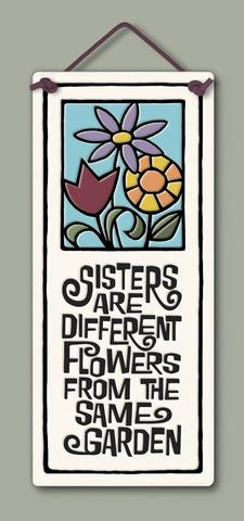 home decor, decoration, tile, wall tile, hanging tile, home, inspirational, housewarming gift, happiness, family, sisters, gift for sisters