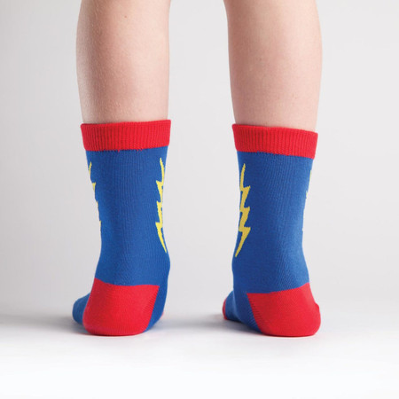 kids socks, superheroes, socks for children, lightning bolt, fun socks