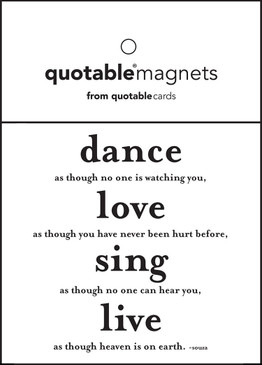 dance as though no one is watching magnet