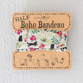 cats! half boho bandeau, hair accessories, cat lover, teens , beach wear, natural life