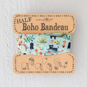 dogs! half boho bandeau, hair accessories, dog lover, teens , beach wear, natural life