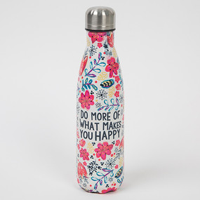 do more of what makes you happy water bottle