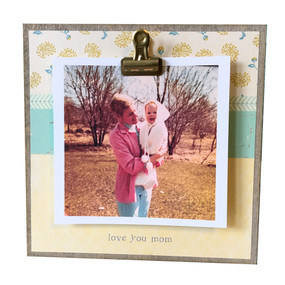 love you mom tiny rustic frame