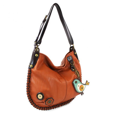 orange bird hobo purse, whimsical, key fob, hearty, faux leather, made by Chala