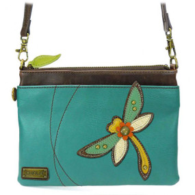 dragonfly mini crossbody, purse, handbag, dragon, whimsical, detachable strap, faux leather, made by chala