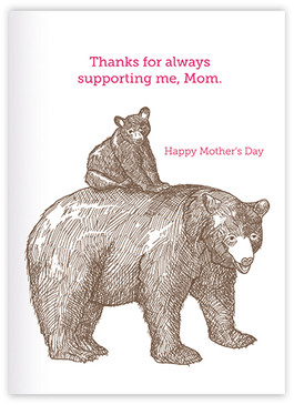 thanks for always supporting me | mother's day card