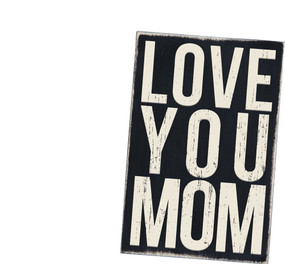 love you mom wooden postcard