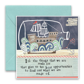 it's the things we are made for   inspirational card