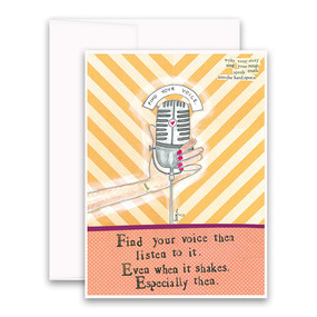 find your voice | inspirational card