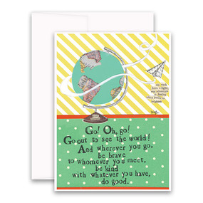 go out to see the world | inspirational card