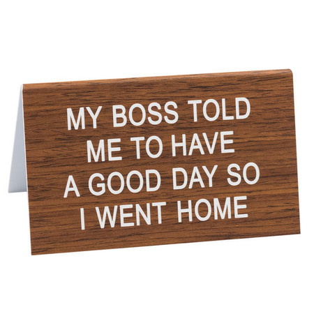 The Hilarious Say What? Office Talk Desk Signs offer the perfect combination of workplace camaraderie, dry humor and iconic wit. The durable acrylic signs will add a dash of 90's flare to the office and make everyone LOL!