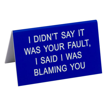 The Hilarious Say What? Office Talk Desk Signs offer the perfect combination of workplace commradery, dry humor and iconic wit. The durable acrylic signs will add a dash of 90's flare to the office and make everyone LOL!
