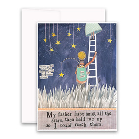 my father first hung all the stars | father's day card