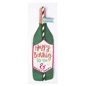 This new 'Happy Birthday' Bottle Straw Card is a perfect card for celebrating someone's special day!Our new bottle straw cards help you celebrate, commiserate and everything in between! Finally! We have solved the problem you didn't know you had…how to drink directly from the bottle and still mind your manners! Send someone a single straw card or check out our Bottoms Up! Bottle Straw Packs!Card Measures 13″ x 5″ Flat Card White envelope* Poly-Sleeved *requires additional postage