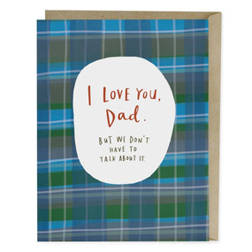 I love you dad | father's day card