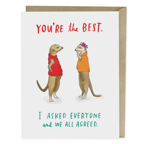 you're the best we all agree | friendship card