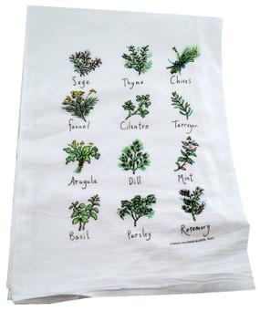 herb flour sack towel