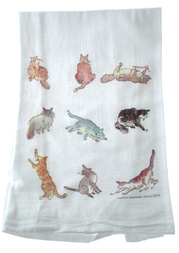cat flour sack towel kitchen gift for cook baker mom mothers day grandma