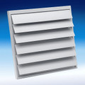 "Fantech VK 25 - Louvered Shutter 11 1/4"" Square Opening - For 8"" or 10"" Duct"